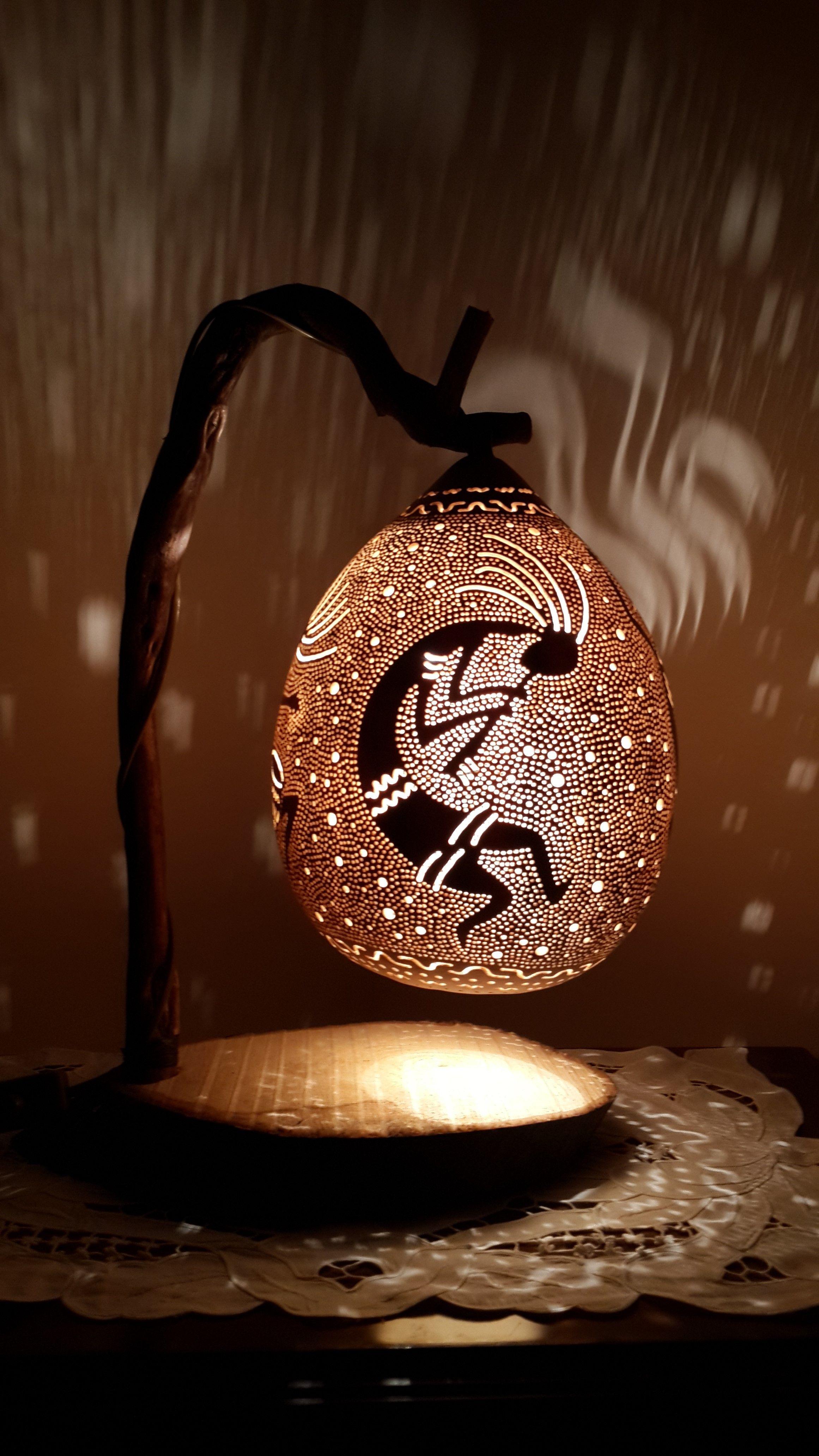 AKLIEVVELLER... SUKABAĞINDAN ABAJUR... GOURD LAMPS