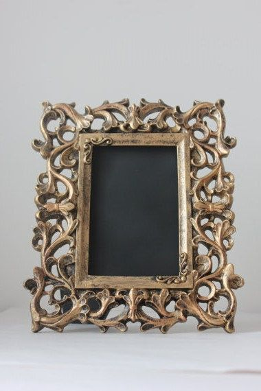 10 Gold Frames 4x6 Vintage Style Baroque Picture Photo Frame Or Chalkboard For Table Numbers Gold Wedding Decorations Picture Frame Table Framed Table Numbers