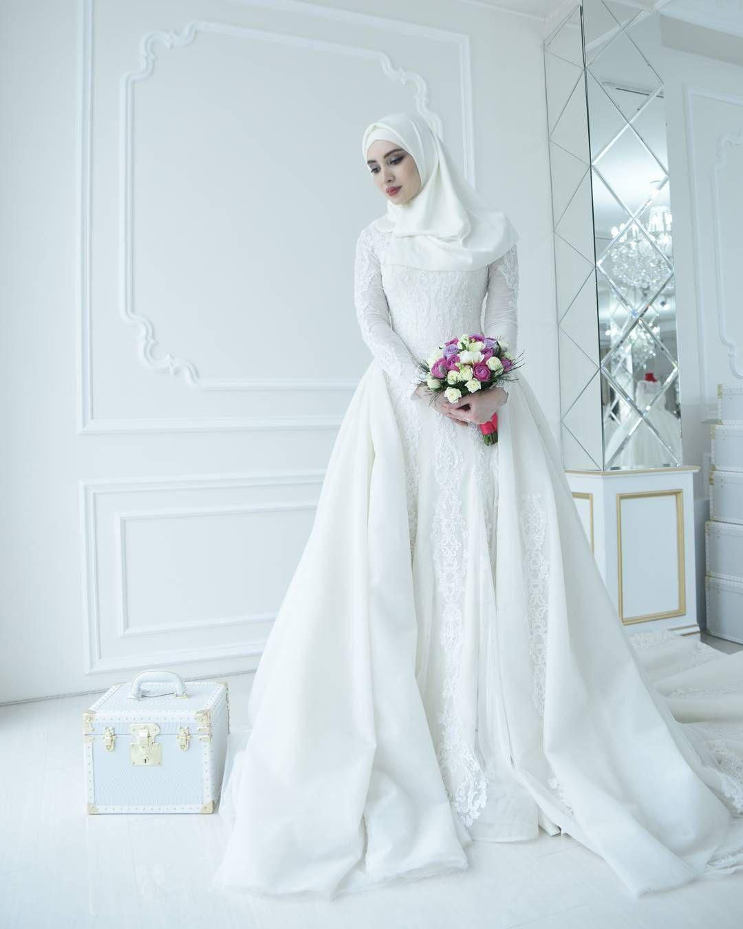 Pin by husanova .. on Хиджаб   Pinterest   Hijab wedding dresses ...