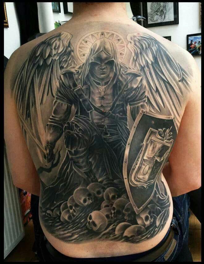 Arcangel Tatuajes arcangel   sleave tattoos   pinterest   tatuaje angel, tatuajes and