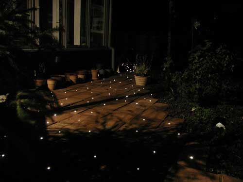 The Pavers With Fibre Optic Garden Path Lighting At