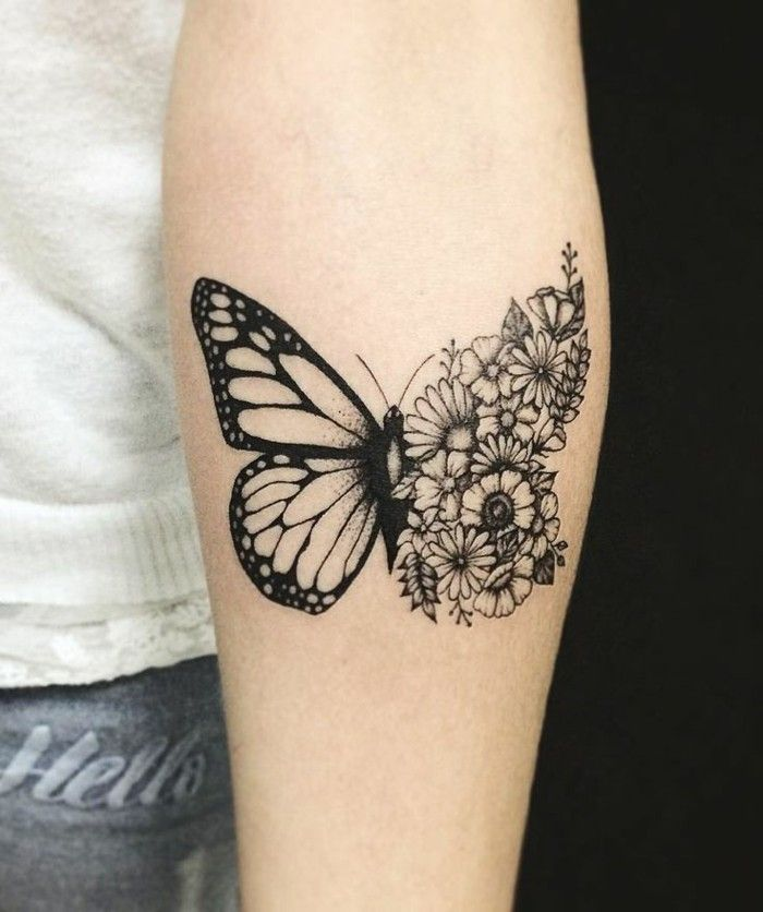 Butterfly tattoo - symbolism, meaning and models - flower tattoo designs -  Butterfly tattoo symbol