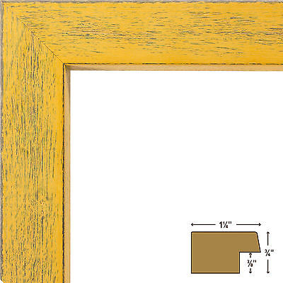 nice Craig Frames Gesso 1.25 Yellow Plain Wooden Picture Frame - For ...