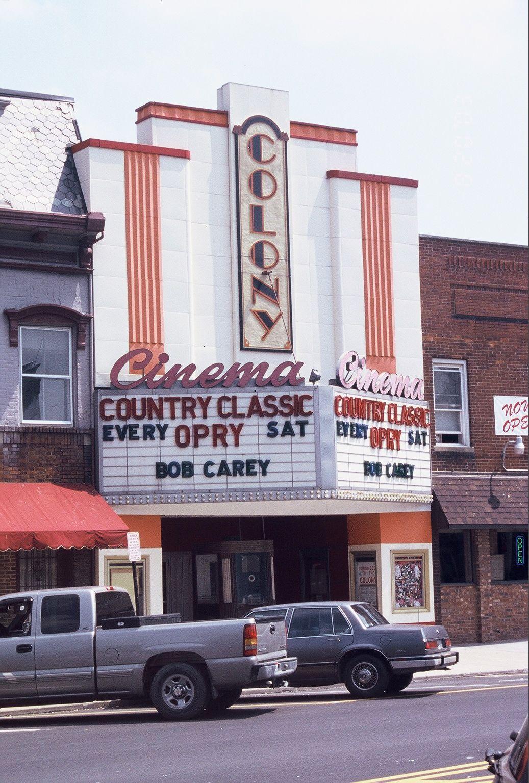 The Colony Cinema in Hillsboro, Ohio. Where John and I had