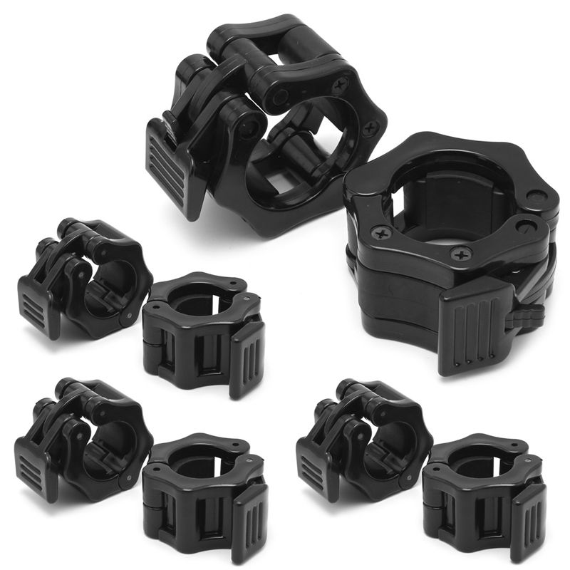 1 PAIR, BLACK BARBELL COLLARS OLYMPIC LIFTING CLAMPS CLIPS MUSCLE CLAMP
