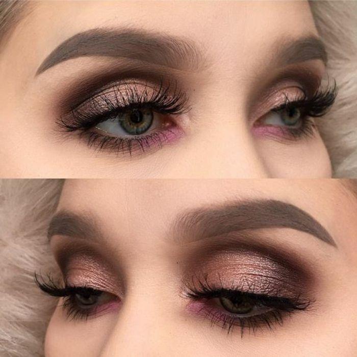 como pintarse los ojos azules en tonos rosa - Pintarse Los Ojos