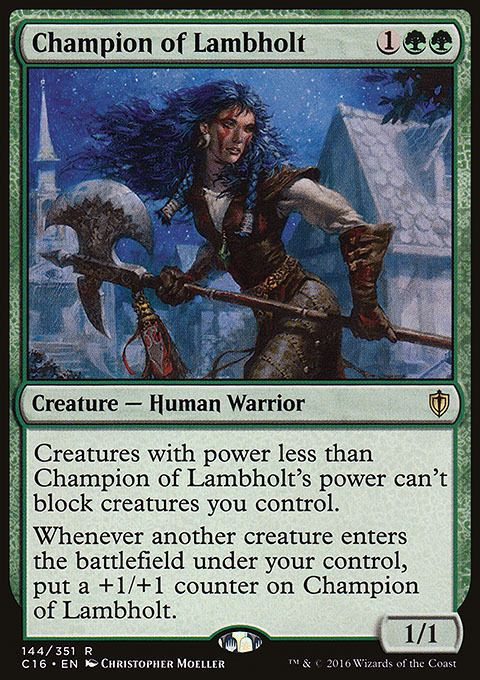MTG Champion of Lambholt Commander Anthology 2 Rare Green NM//M