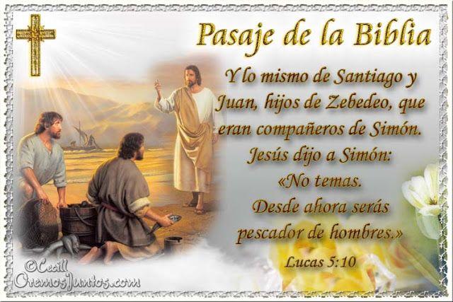 Vidas Santas: Santo Evangelio según san Lucas 5:10
