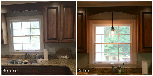 Updating A Kitchen Without Painting The Cabinets Light Above