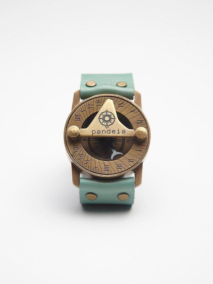 2b362c45365 Materiais Naturais · Pulseiras · Free People Compass Sundial Cuff