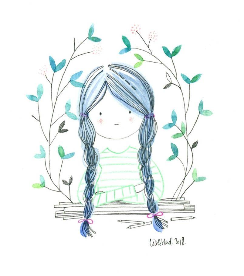 Doll126 Cecile Hudrisier Dessin Nature Illustration D