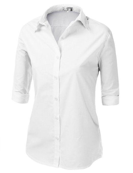 3/4 sleeve button down shirts
