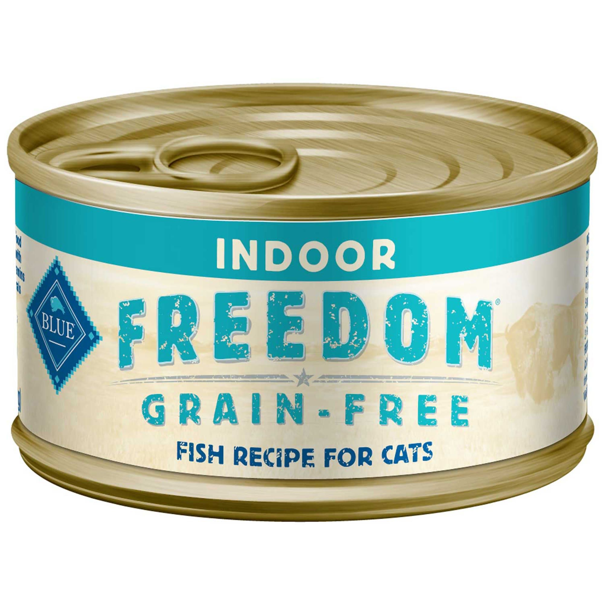 Blue Buffalo Blue Freedom Grain Free Indoor Fish Recipe Wet Cat Food 5 5 Oz Case Of 24 In 2020 Canned Cat Food Fish Recipes Cat Food