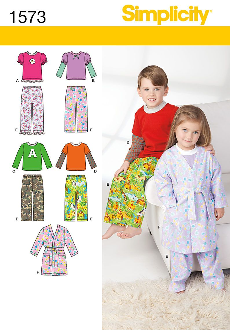 Sew a robe, pants, and knit tops for children and toddlers ...