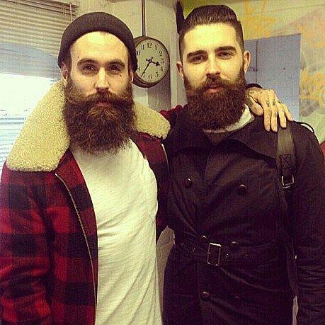 . Beard brothers @rickisamhall and @chrisjohnmillington