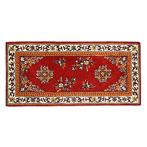 Minuteman International Burgundy Oriental Wool Hearth Rug Rectangular