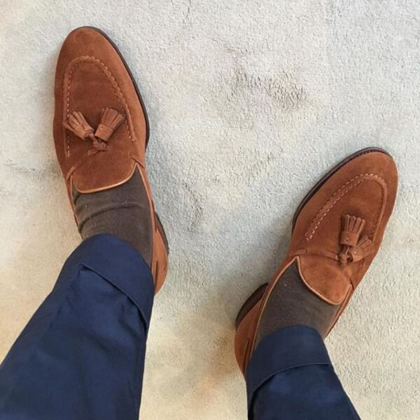 8425b550280 Cavendish in Polo Brown Calf Suede - photo credit   i.am.palm ...