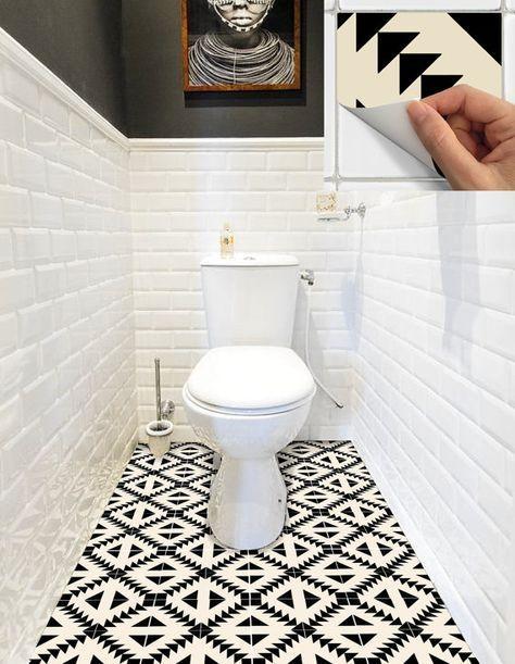 Tile Sticker Kitchen, bath, floor, wall Waterproof & Removable Peel n Stick: W010Beige #bathroomtileshowers