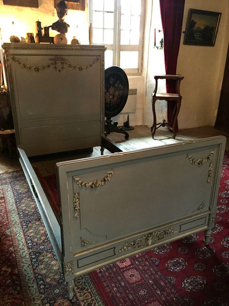 Magnifique lit de style Louis XVI -   wwwlesbrocanteursfr