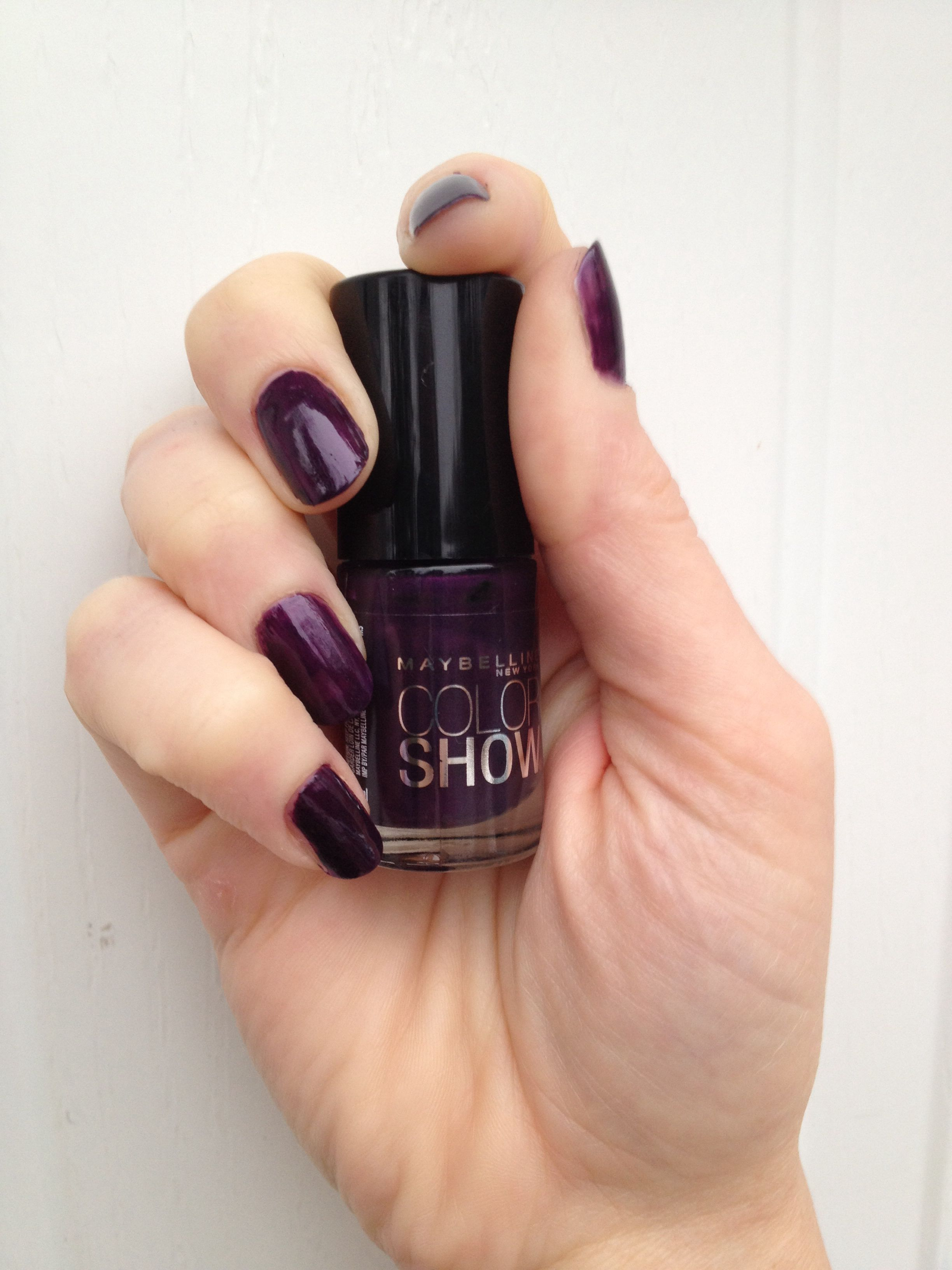 Nail Polish ::: Maybelline Color Show Nail Polish in Deep in Violet ...