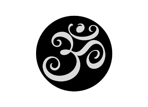 """The inverse of the larger Yoga Aum, we kept this design simple. The Aum represents the three states of sleeping, dreaming and waking. - Tattoo Size 1 1/2"""" x 1 1/2"""" - 2 Tattoos Included Photo courtesy"""