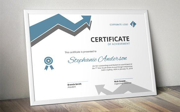 Arrow corporate Word certificate by Inkpower on @creativemarket - corporate word templates