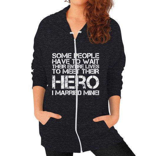 I MARRIED MINE Zip Hoodie (on woman)