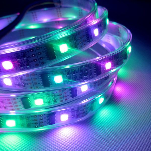 Colored Led Light Strips Inspiration 1M Dc5V Ws2801 Waterproof 32 Pixels Led Strip Ribbon Tape Arduino