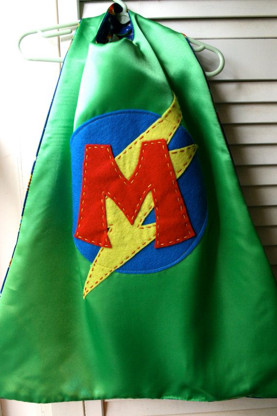 Superhero Cape -Perfect Birthday Gift-PERSONALIZED GREEN