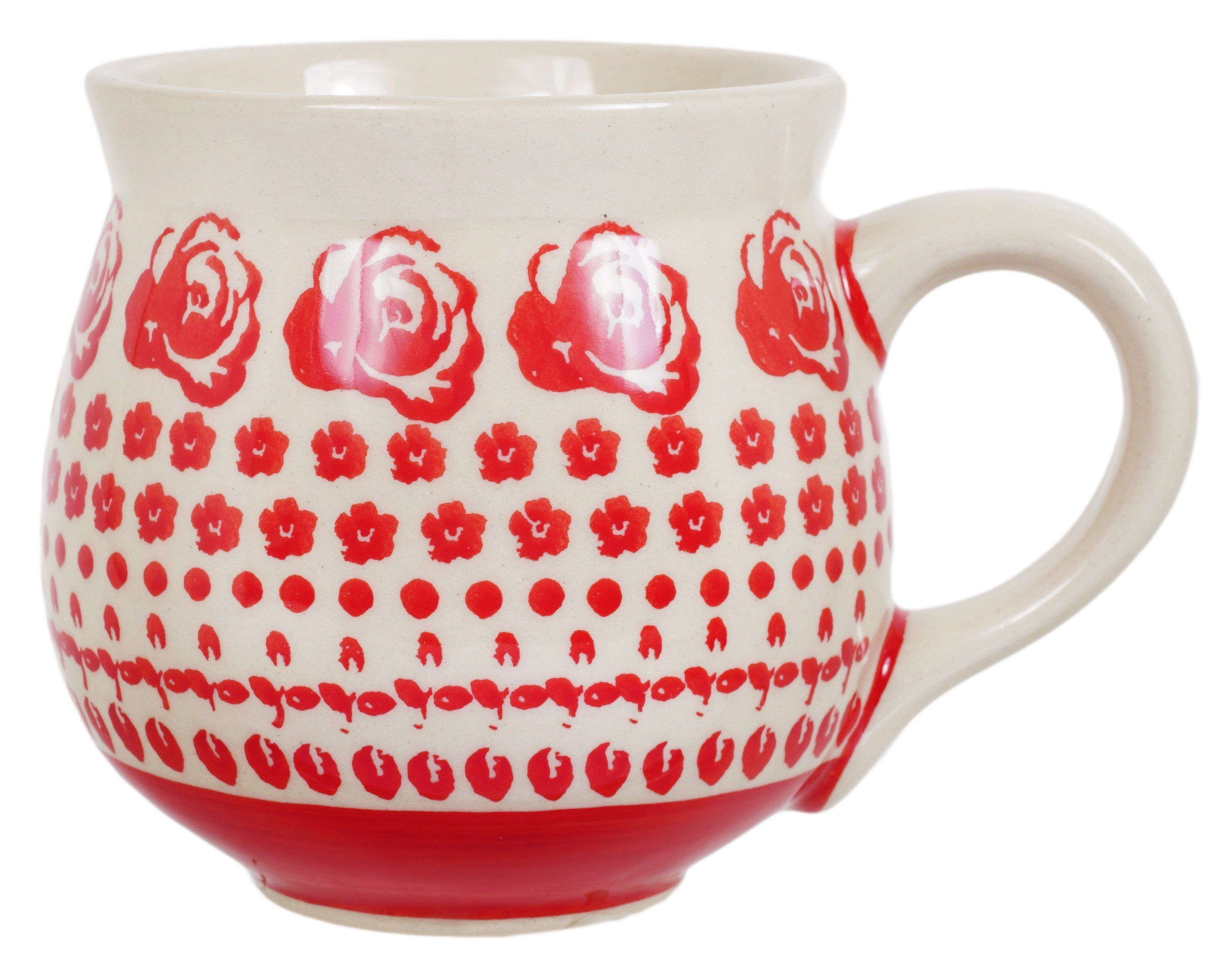 The Medium Belly Mug (Rose Garden) is part of Rose garden Products - Pattern Rose Garden Size 10 oz (1 25 cups), 5  wide (including handle), 3 5  tall The 10 oz  Medium Belly Mug is the perfectly shaped coffee cup  Starting your day with a belly mug in an exquisite Polish pottery design jumpstarts your day on a high note! Item  K090