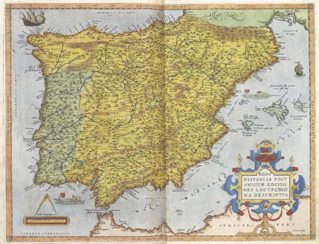 17 Preciosos Mapas Antiguos De Espana Con Los Que Viajar Atras En