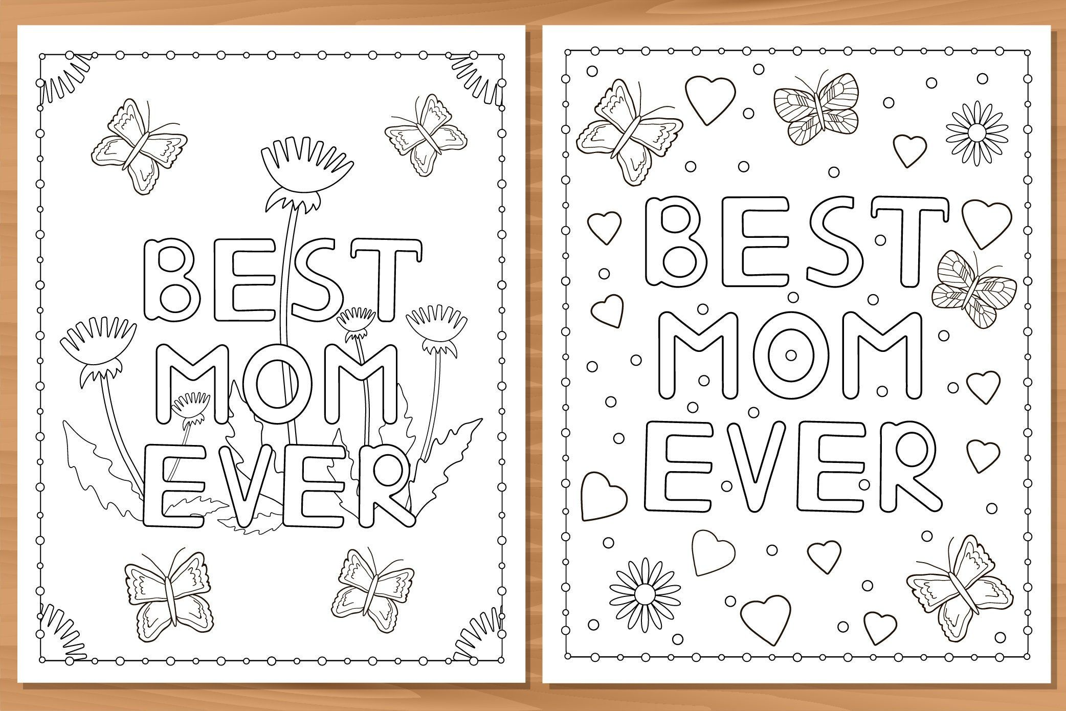 4 Printable Coloring Pages Best Mom Ever Mom I Love You Etsy In 2021 Printable Coloring Pages Coloring Pages Printable Coloring