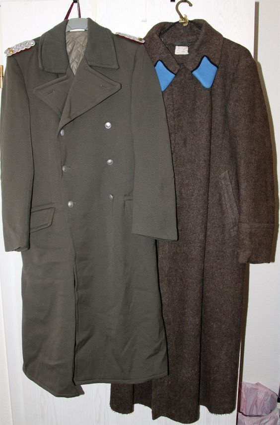 0cc5a19aeaa Left  East German Stasi Lt. Colonel s coat 1970s 80s. Right  Red ...