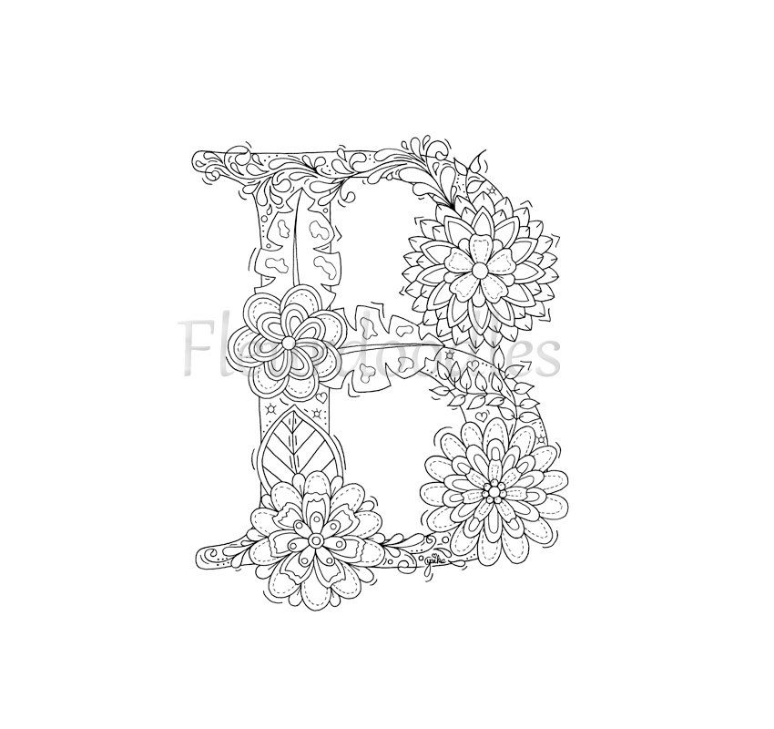 Pin by Betti Bajáki on betűk | Pinterest | Floral letters, Adult ...