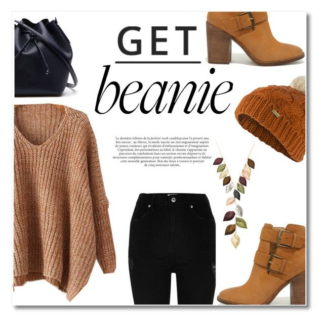 """""""beanies, fall"""" by maysaroh ❤ liked on Polyvore featuring River Island, Steve Madden, Lacoste, Barbour, Maroc, Jacmel and Lipsy"""