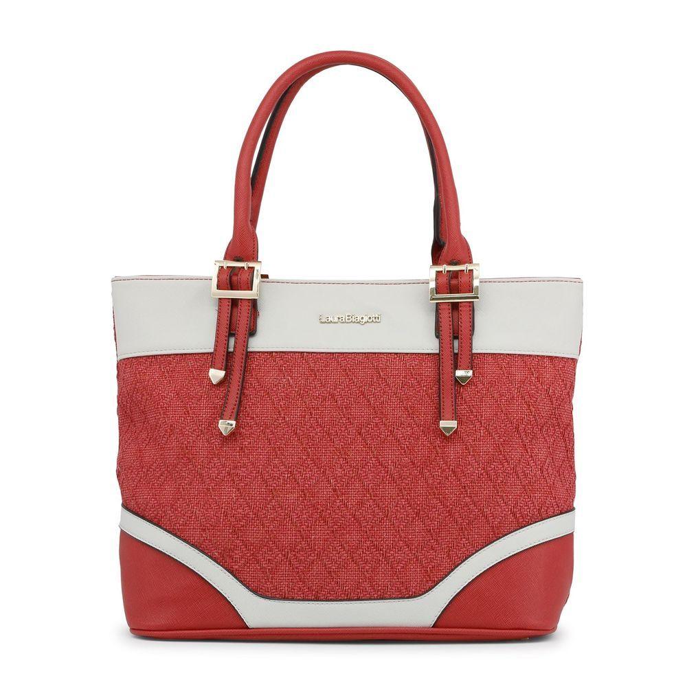 Laura BiagiotLaura Biagiotti Women s Red Shopping Tote Shoulder Bag Zip  Close  fashion  clothing   220ff1a07f