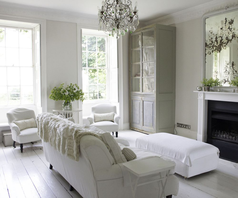 Nordic White Style Living Room In 2020 White Interior House Interior French Country Living Room