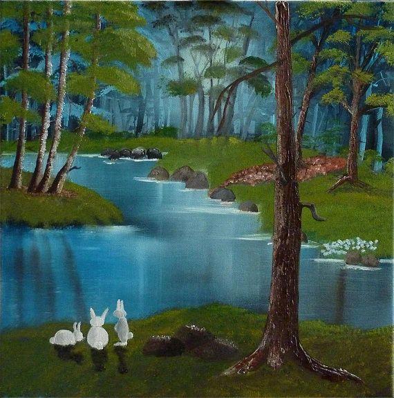 Rabbit paradise. | Paradis, Lapin, Tableau