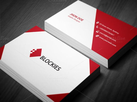 Corporate business card template by jigsawlab on creative market corporate business card template by jigsawlab on creative market cheaphphosting Choice Image