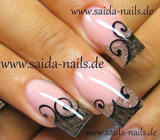 Uv Gel Nails Gel Nail Art Designs French Tip Nails Nail Art Designs