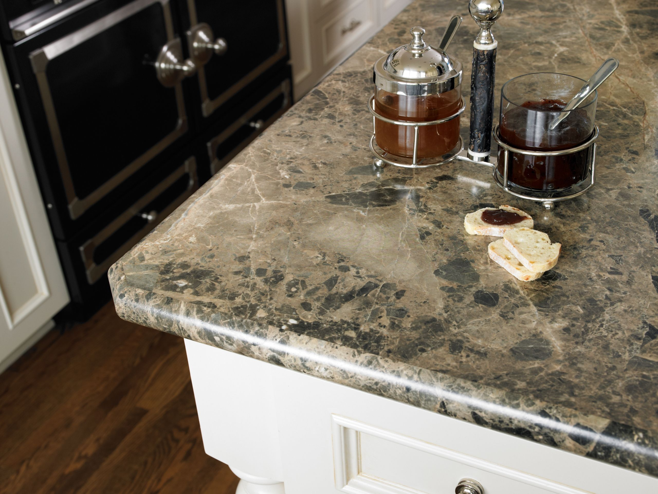 Laminate Kitchen Countertops Cabinet Installers Breccia Paradiso 180fx With An Bullnose Idealedge