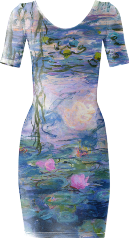Water Lilies Short Sleeved Bodycon Dress - Available Here: http://printallover.me/collections/sondersky/products/0000000p-water-lillies-4