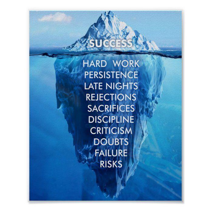 Inspirational Quotes | Success Iceberg Poster | Zazzle.com