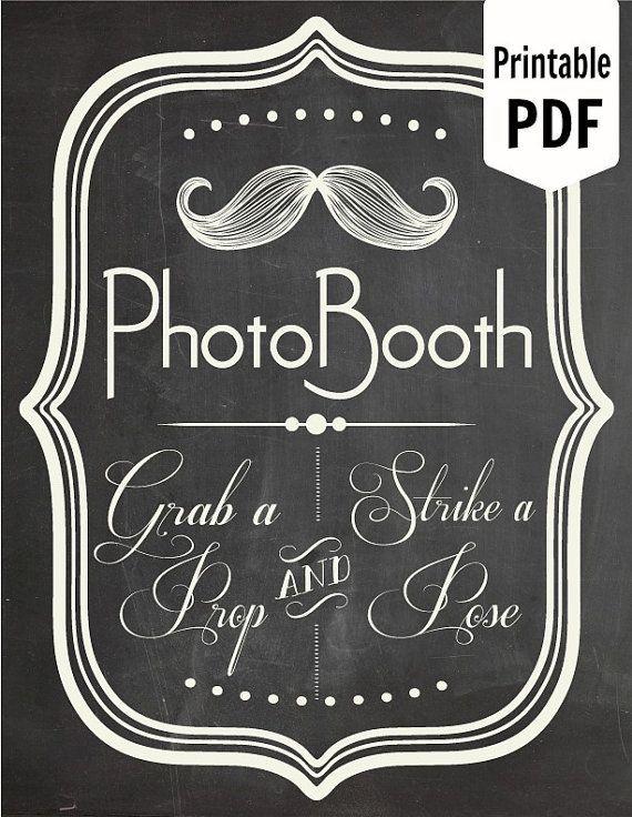 Photo Booth Sign Prop Photobooth BoothChalkboard Wedding Reception Chalk