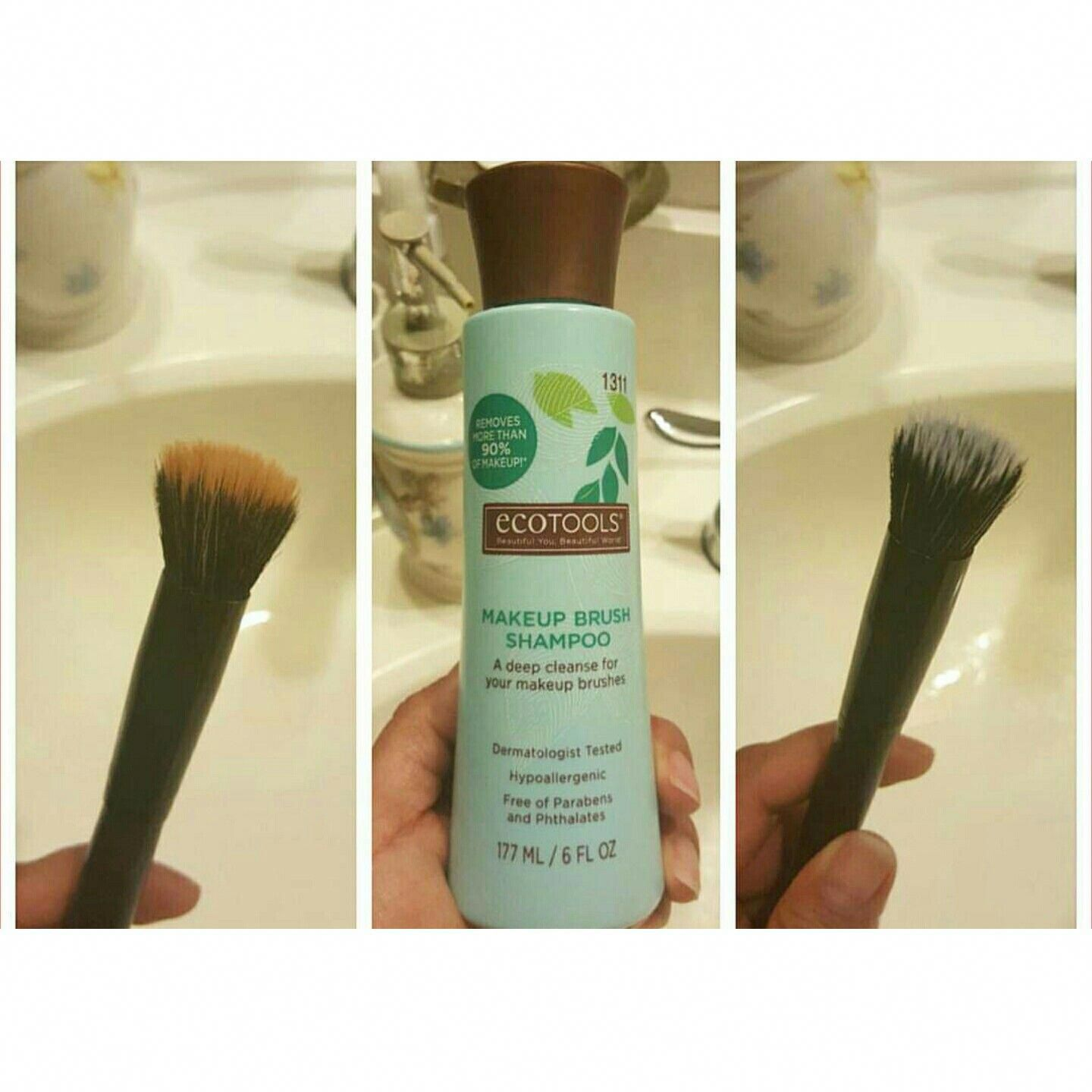 This Eco tools makeup brush shampoo is great!