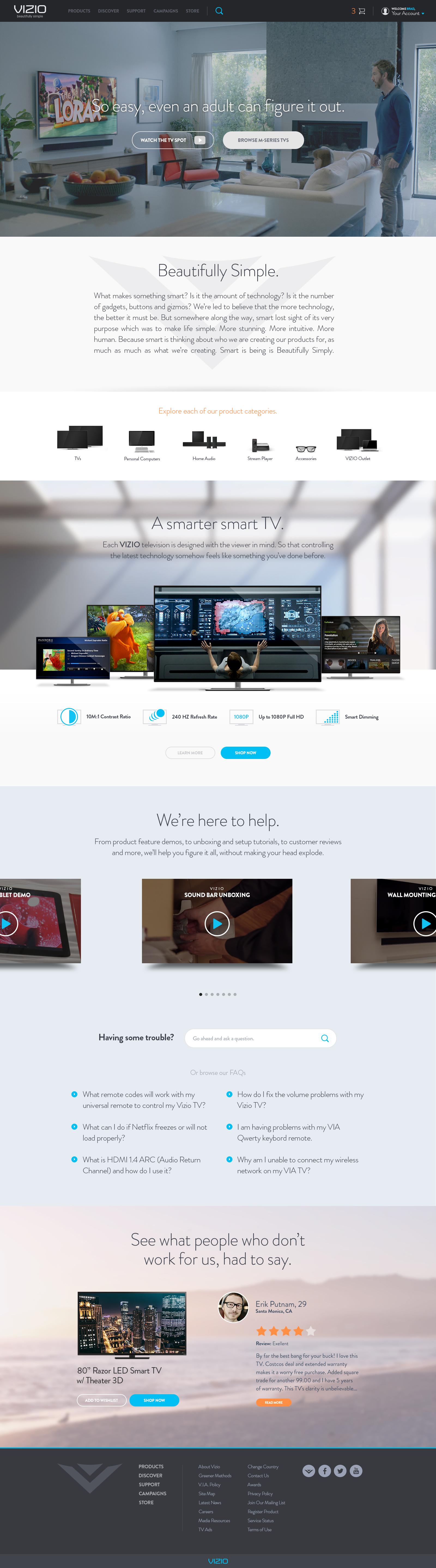 Vizio Home Fullpixels Jpg By Brad Burke Interactive Design Web Design Inspiration Web Design