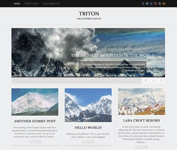 This free minimalist WordPress theme offers Fancy lightbox, 3 custom ...