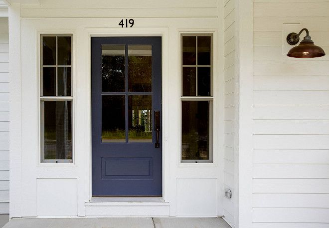 Interior Design Ideas House Exterior Navy Front Door Painted
