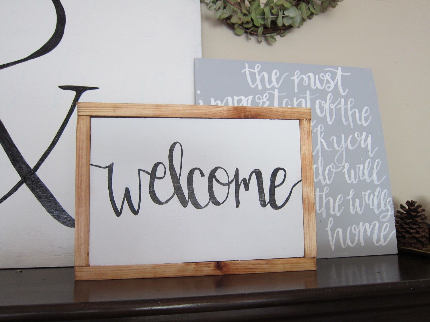 Welcome Sign | Wood Sign | Home Decor | Farmhouse Style Sign by ...
