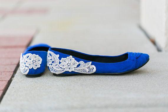 Wedding Flats Cobalt Blue Bridal Ballet By Walkinonair Tardis